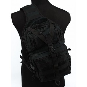 Tactical Utility Gear Sling Bag Backpack Black L