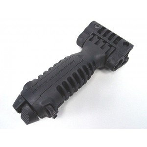 Tactical 20mm RIS Spring Total Bipod Foregrip Grip Black