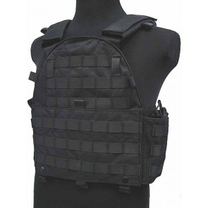 Tactical Molle Recon Plate Carrier Vest Black