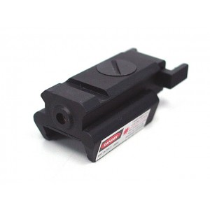 Tactical Pistol Under Rail Flashlight Mount with Red Dot Laser
