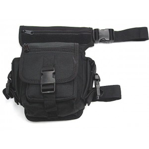 Drop Leg Utility Waist Pouch Carrier Bag Black
