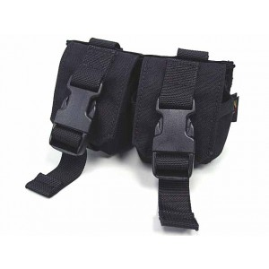 Flyye 1000D Molle Double Frag Grenade Pouch Black
