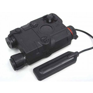 PRO&T AN/PEQ-15 Red Dot Laser & LED Flashlight Black