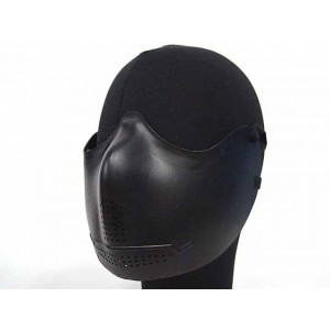 Airsoft X-Eye Half Face Mouth Protector Iron Mask Black