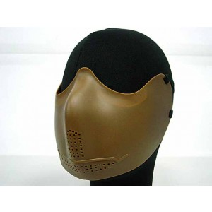 Airsoft X-Eye Half Face Mouth Protector Iron Mask Tan