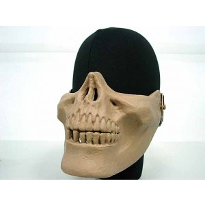 Airsoft Skull Skeleton Half Face Protector Mask Tan