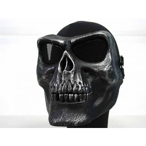 Airsoft Skull Skeleton Full Face Protector Mask Silver Black