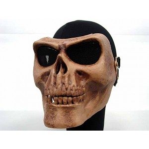 Airsoft Skull Skeleton Full Face Protector Mask Brown