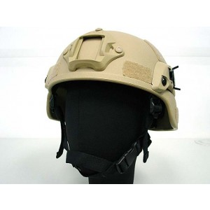 MICH TC-2000 ACH Helmet with NVG Mount & Side Rail Tan