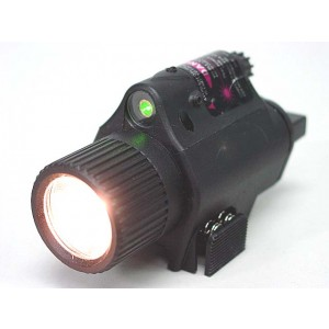 OP M6 65Lm Xenon Tactical Flashlight & Green Laser Sight Black