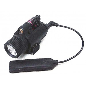 OP M6 180Lm LED Tactical Flashlight & Red Laser Sight Black