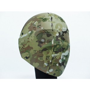 Full Face Hockey Type Airsoft Mesh Goggle Mask Multi Camo