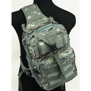 Tactical Utility Gear Sling Bag Backpack Digital ACU Camo L