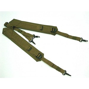 USMC USGI Load Bearing Y Harness Suspender Coyote Brown