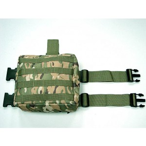 Molle Drop Leg Panel Utility Waist Pouch Bag Multi Camo