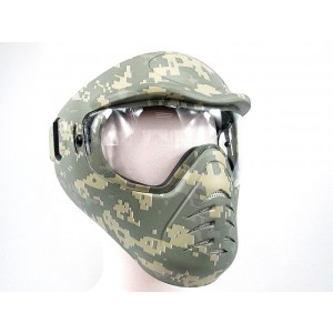 APS Heavy Duty Face Mask with Anti-Fog Lens Digital ACU Camo