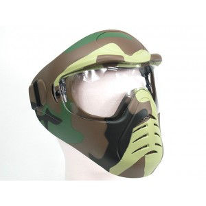 APS Heavy Duty Face Mask with Anti-Fog Lens Camo Woodland