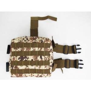 Molle Drop Leg Panel Utility Waist Pouch Bag Digital Desert Camo