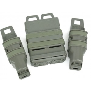 Molle FastMag Magazine Clip Set for M4/Pistol/MP5 Foliage Green