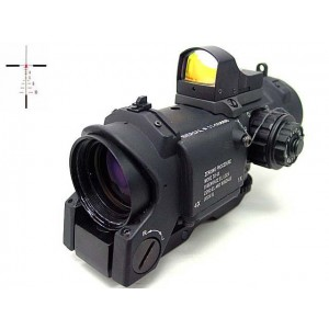 4x Elcan SpecterDR Type Red Dot Scope w/OP Dot Sight Black