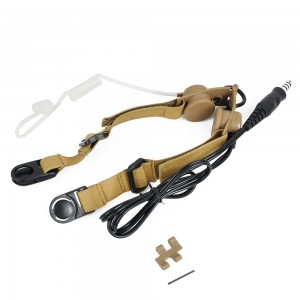 Z Tactical Tactical Throat Mic Headset Tan - Z033