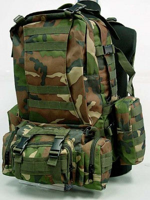 CamelPack Tactical Molle Assault Backpack Camo Woodland
