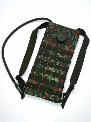 Molle 3L Hydration Water Backpack German Camo Woodland
