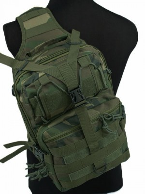 Tactical Utility Gear Sling Bag Backpack Camo Woodland L