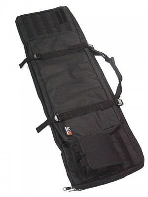 "40"" Molle Dual Rifle Gun Bag w/ Mag Pouch Black"